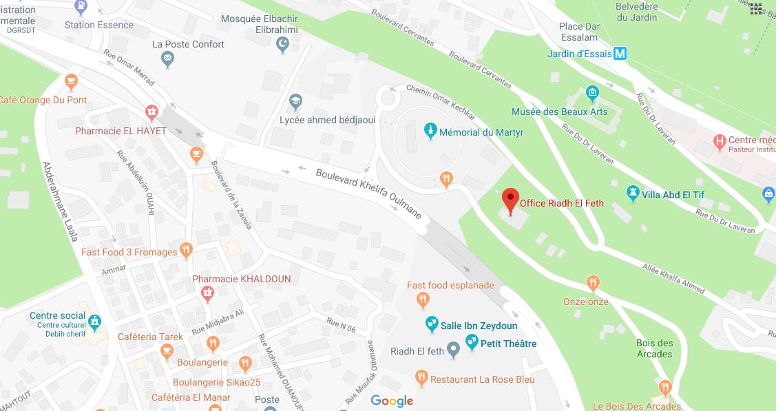 PLAN GOOGLE MAPS ALMOTO EXPO